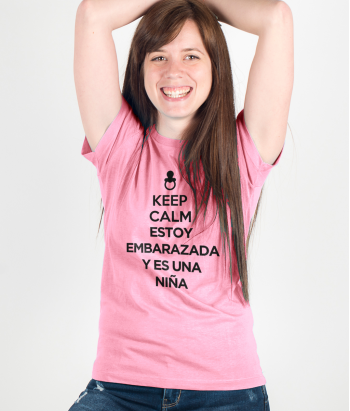 Camiseta Keep Calm embarazada niña