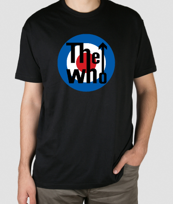 T-shirt musica logo The Who
