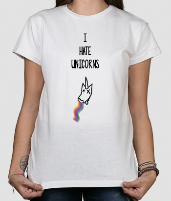 Camisola divertida I hate unicorns