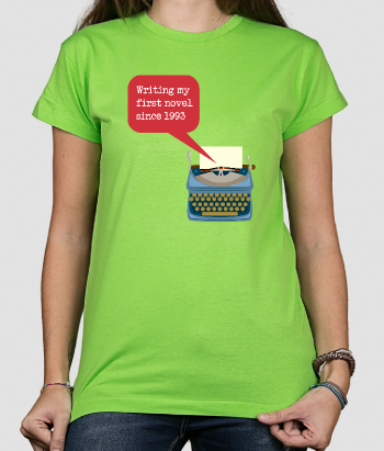 T-shirt writing my novel