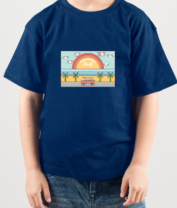 T-shirt surf illustrazione waves are waiting