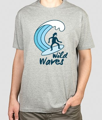 T-shirt surf Wild waves