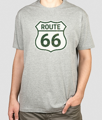 T-shirt route 66 logo simple