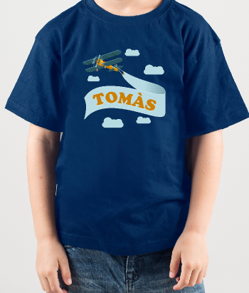 T-shirt enfants avion personnalisable