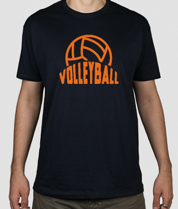 T-shirt sport logo volleybal