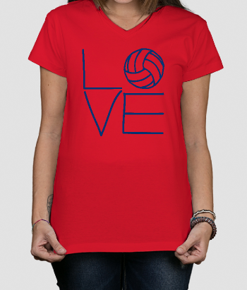 T-shirt sport Love volleybal