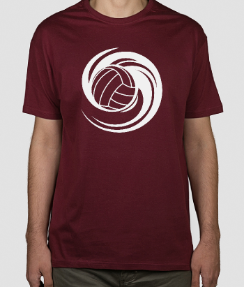 T-shirt spinnende volleybal