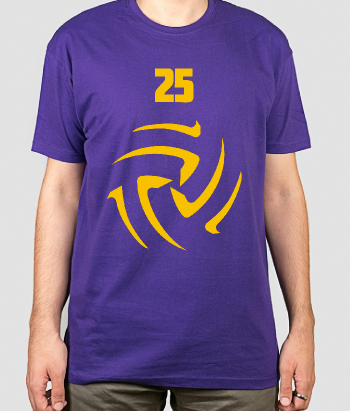 T-shirt sport nummer volleybal