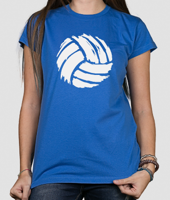 T-shirt sport geverfde volleybal