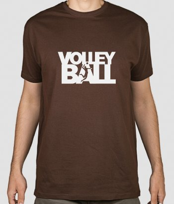 T-shirt sport Volleyball silhouette