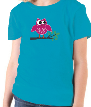 Kinder T-Shirt rosane Eule