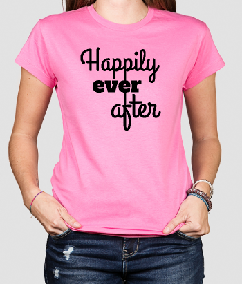 Tshirt con scritta Happily ever after