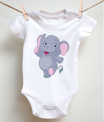 Kinder T-Shirt kleiner Elefant