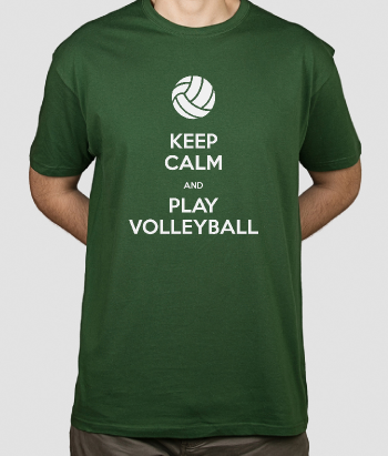 T-shirt tekst Keep calm volleyball