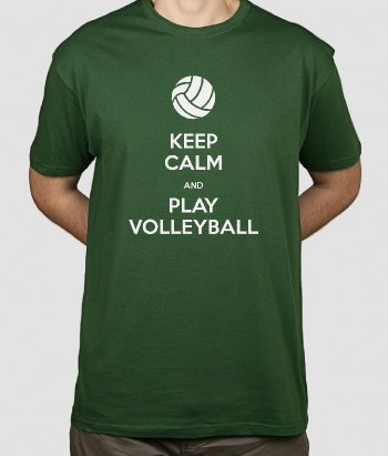 Camisola Keep Calm Volleyball