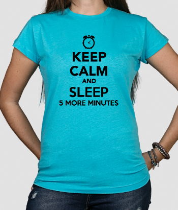 T-shirt tekst keep calm and sleep