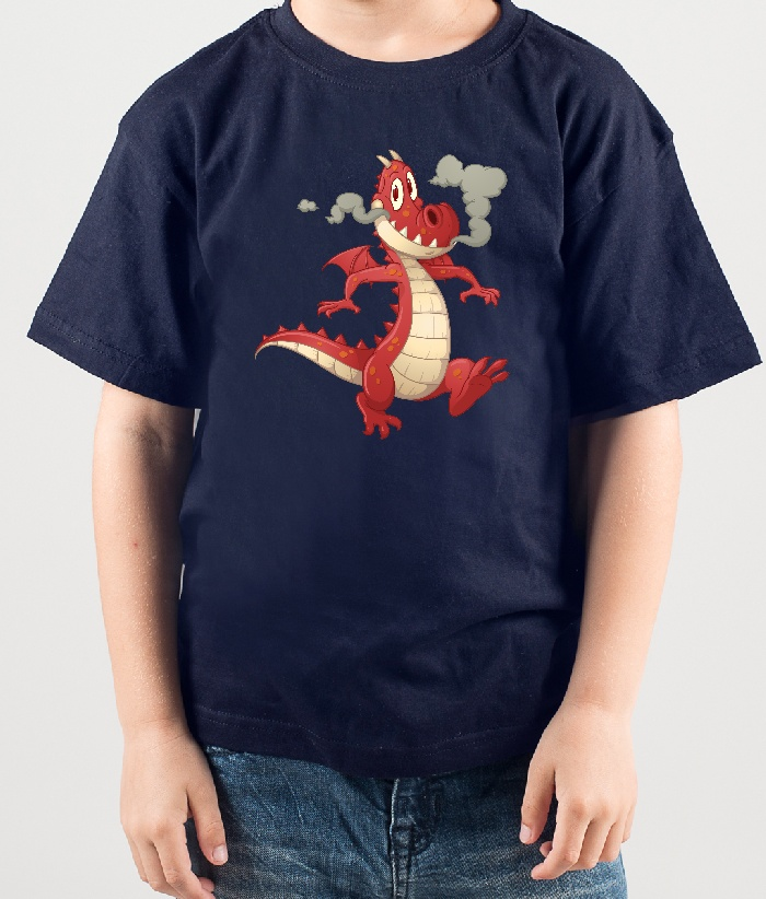 kinder t shirt drache mit rauch dezuu. Black Bedroom Furniture Sets. Home Design Ideas