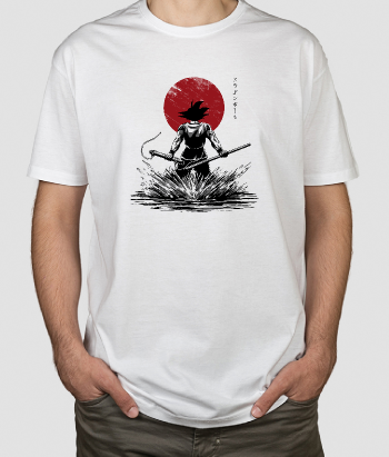 T-shirt Goku Dragon Ball Lua Vermelha