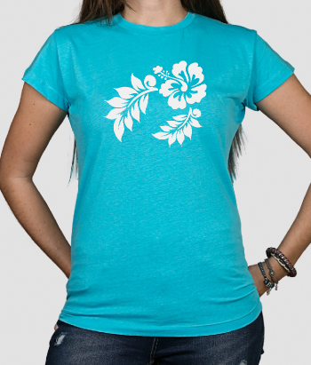 T-shirt Hawaiiaanse bloemen