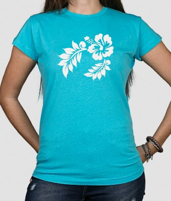 T-shirt surf Flor Hawaiana