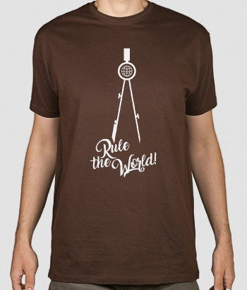 Tshirt con scritta Rule the world