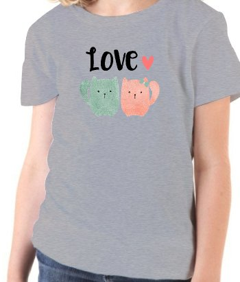 Camiseta gatitos love