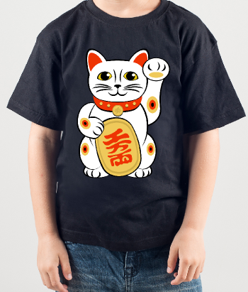 T-shirt Chinees katje