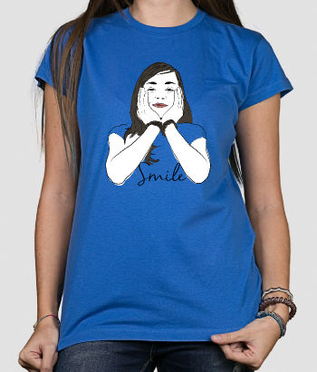 T-shirt vrouw Smile