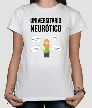 Camiseta divertida Universitario neurótico