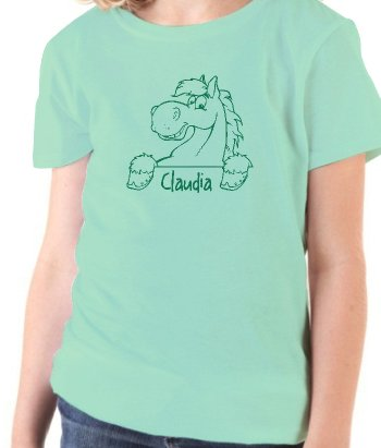 T-shirt personnalisable dessin de cheval