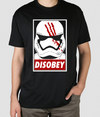 T-shirt disobey stormtrooper