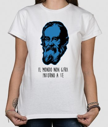 Tshirt messagio Galileo