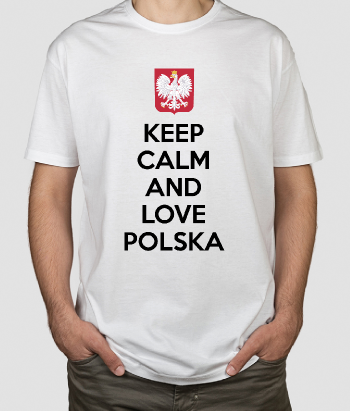 Koszulka Keep Calm and Love Polska