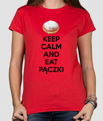 Koszulka Keep Calm and Eat Pączki