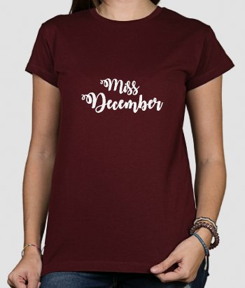 Camiseta personalizable Miss Mes