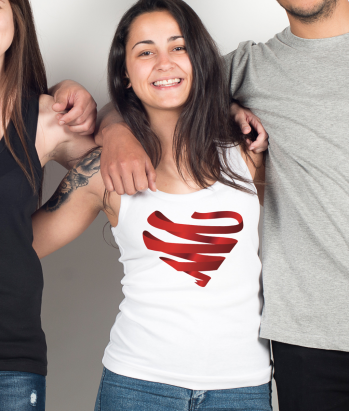 Camiseta solidaria Aids Heart