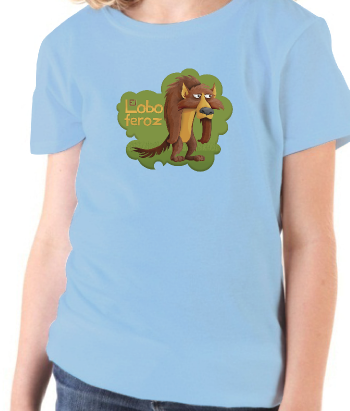 T-shirt kinderen Grote Boze Wolf