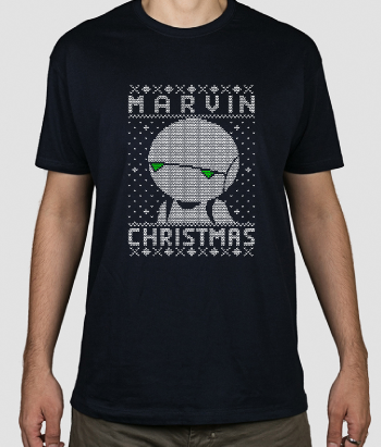 T-shirt marvin christmas