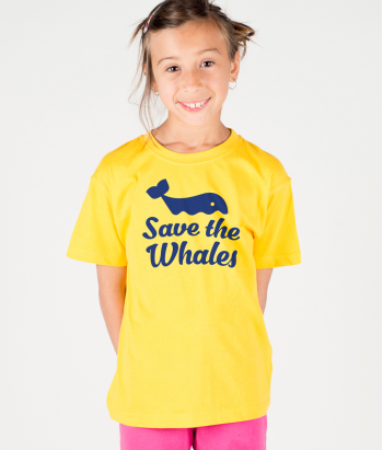 Camiseta con mensaje Save the whales