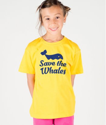 T-shirt texte Save the whales