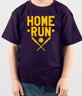T-shirt sport home run