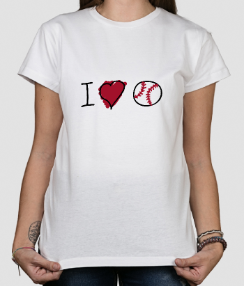 Camiseta divertida I love Baseball