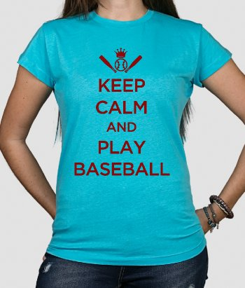 Koszulka Keep Calm and Play Baseball