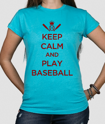 T-Shirt Keep Calm Play Baseball