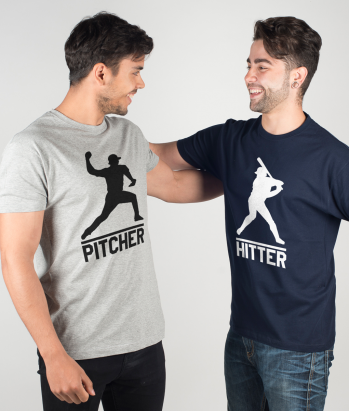 Pärchen T-Shirt Pitcher & Hitter