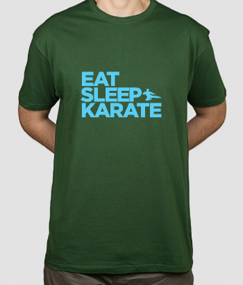 T-shirt tekst en sport Eat Sleep karate