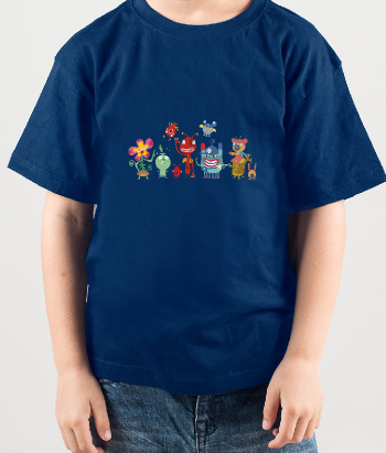 Camiseta monstruos amigos