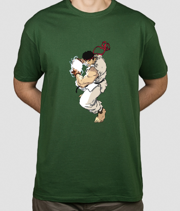 Camiseta friki Ryu Street Fighter