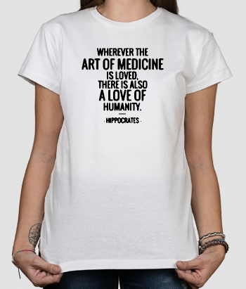 Hippocrates Quote Slogan T-Shirt