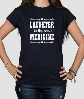 T-shirt frase the best medicine